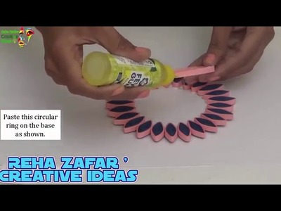 Diy Wall Decor Ideas How To Make Quilling Kanzashi Wall Hanging For Diwali Christmas Decoration