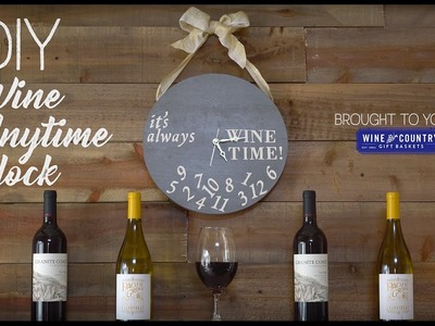 DIY Wine Anytime! Clock