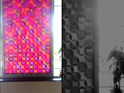 Easy DIY window glass decor with colors