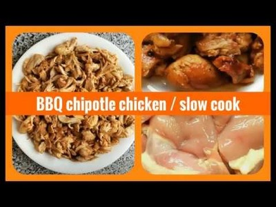 Easy slow cooker BBQ chipotle pulled chicken DIY