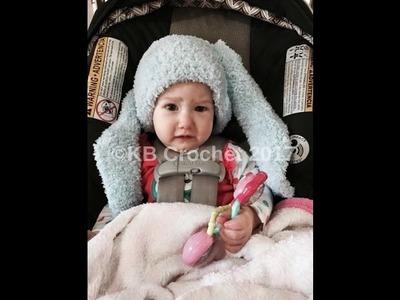 Fuzzy Bunny Hat 6-12 months- Free Crochet Pattern