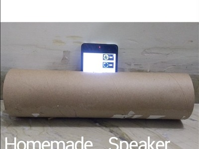 HOMEMADE SPEAKER (2 minutes craft)