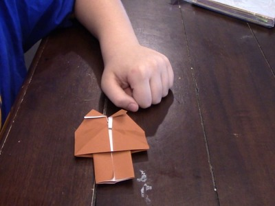 How to fold an origami JAWA