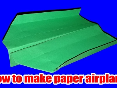 How to make a BOOMERANG PAPER AIRPLANE that COMES BACK TO YOU