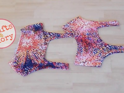 How to Make A: Cut Out Sports Bra (DIY)