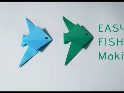 How to make a easy paper fish    DIY Crafts    Origami