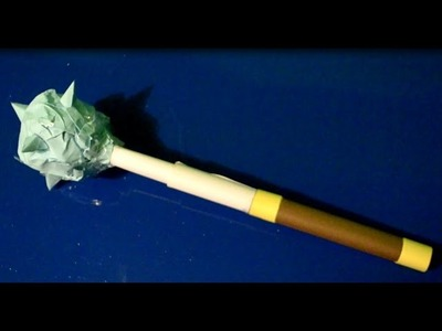 How to make a mace out of paper - Easy Tutorials