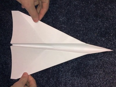 HOW TO MAKE A PAPER AIRPLANE IN LESS THEN 1 MINUTE! VERY EASY! AND FLIES FAR!!!