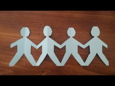 How to Make a Paper Family--Super easy