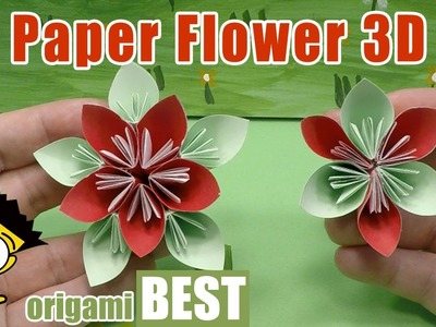 How to make a Paper Flower - Flower Crafts for Children - Origami BEST #origami