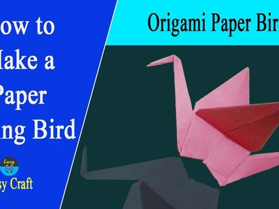 """How to Make a Paper Flying Bird 
