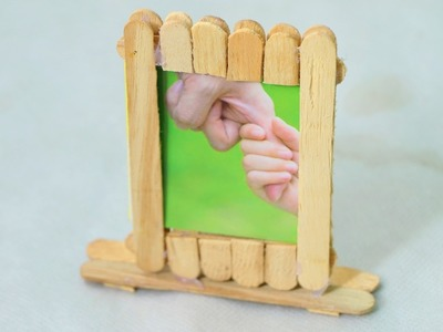 How to Make a Popsicle Stick Personal Photo Album - Easy Photo Frame