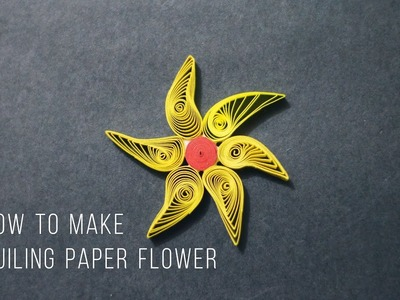 How to make a quilling paper flower   Easy Crafts  