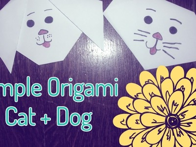 How to Make an Origami Dog + Cat