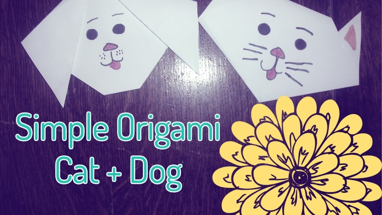 how to make an origami dog cat