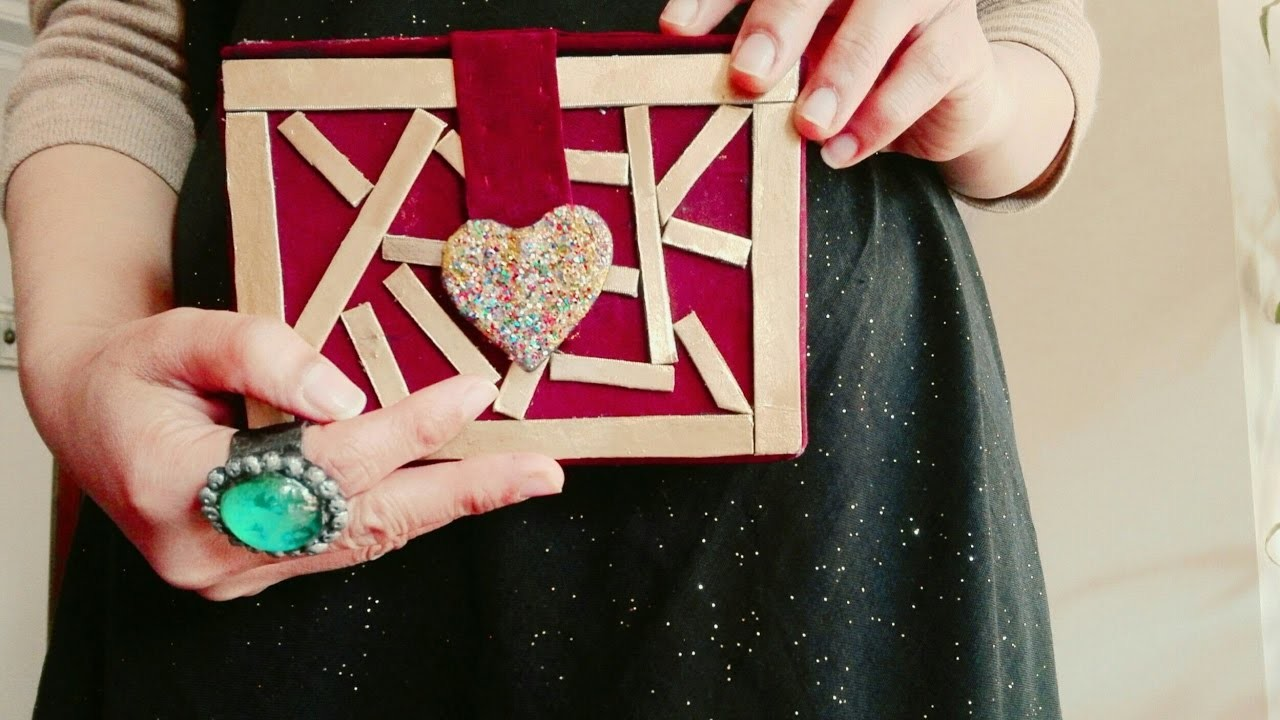 How to make clutch bag from cardboard