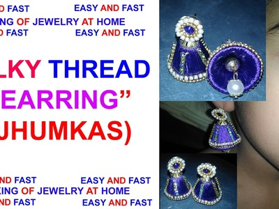 How to make fANCY EARRING Jhumkas at Home EASY  Tutorial !!