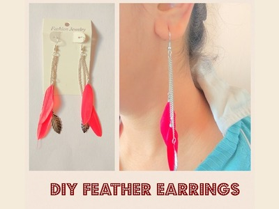 How to make Feather Earrings | Jewelry Series | Craftziners # 60