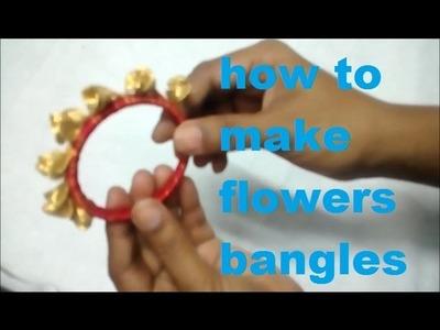 How to make flowers bangles ( Design 7 )