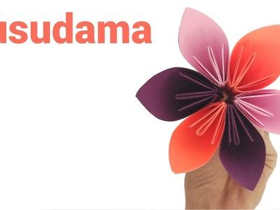 How to make Origami Kusudama flower | Easy Paper Flower - Varni Crafts