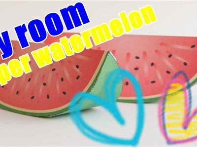 How to make paper watermelon