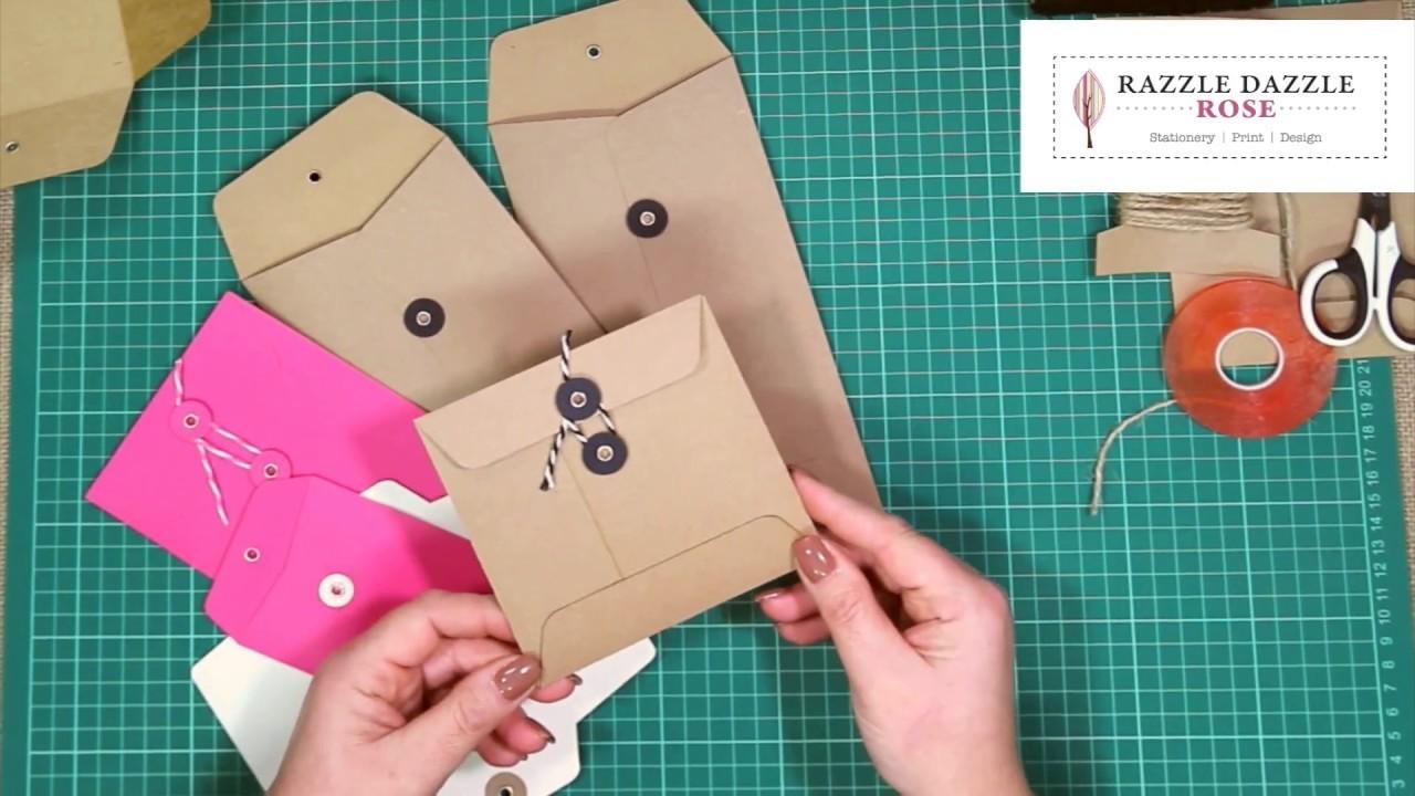 How to Make String Tie Envelope Tutorial