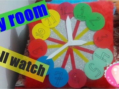 How to make wall clock for kids room