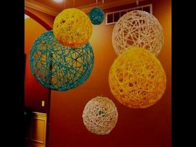 How to make yarn-string  balloon ,  DIY