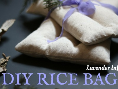 Lavender Infused - DIY Rice Bag - Heat therapy  or Ice-pack