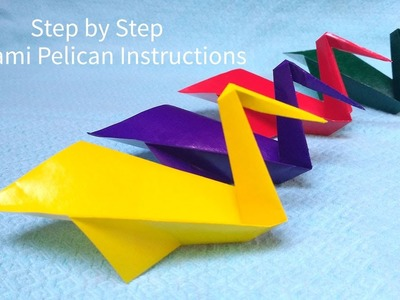 Square Origami Bird How To Make Origami Pelican Step By Step