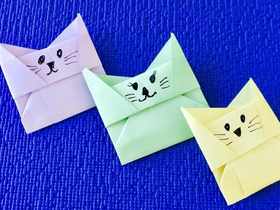 Origami cat box ????  how to make an easy origami cat