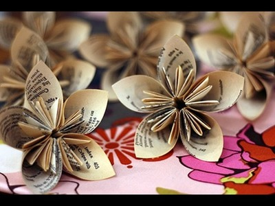 Origami | How to Make Paper Flowers | Origami Lotus Flower-Origami flowers for beginners