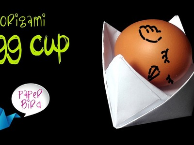 PAPER EGG CUP . EGG HOLDER – How to make origami egg cup easy tutorial