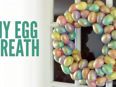 Pastel & Gold DIY Easter Egg Wreath | MAKE