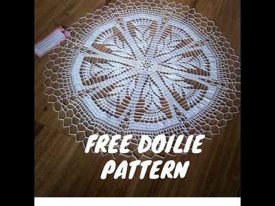 Simple crochet doilie- free pattern. how to crochet doilie. doilie free pattern. simple doilie