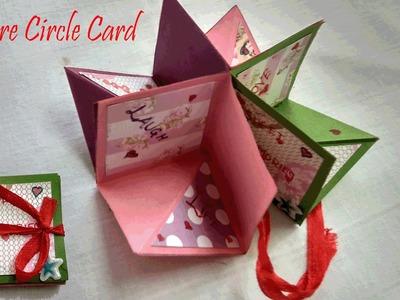 Square Circle Card    Pop-up Card   DIY   Artvilla