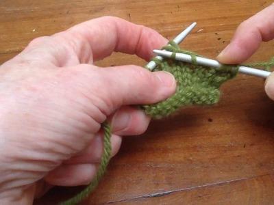 The k2tog knitting decrease