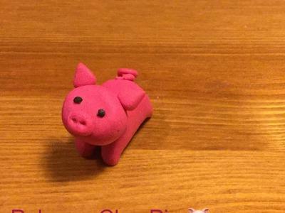 Cute Polymer Clay Pig