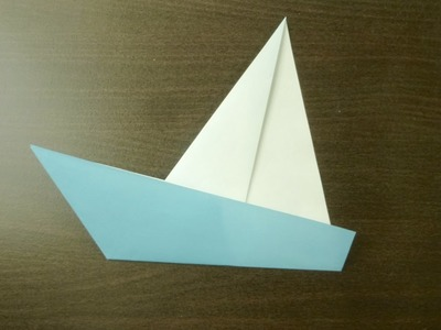 【DIY craft】Yacht. Origami. The art of folding paper.