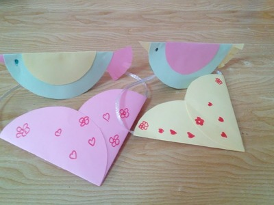 DIY Crafts for Kids - Paper Crafts with Circles - Making Birds & Bags + Tutorial !