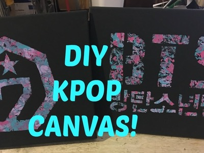 DIY KPOP CANVASES! GOT7 & BTS!