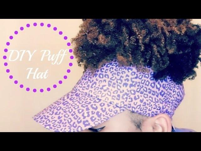 DIY Natural Hair Puff Hat