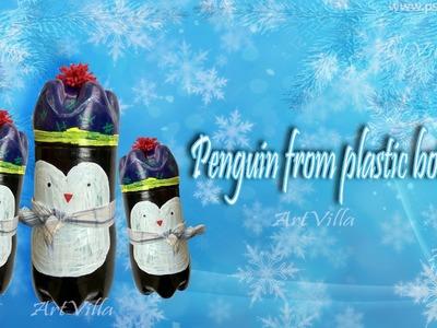DIY-Penguin From Plastic Bottle | Best Out Of Waste by Artvilla
