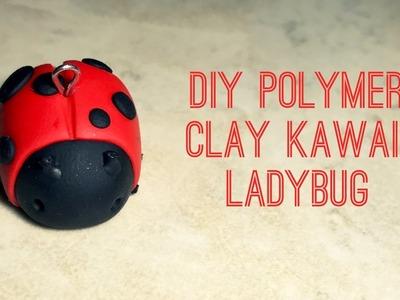DIY POLYMER CLAY KAWAII LADYBUG