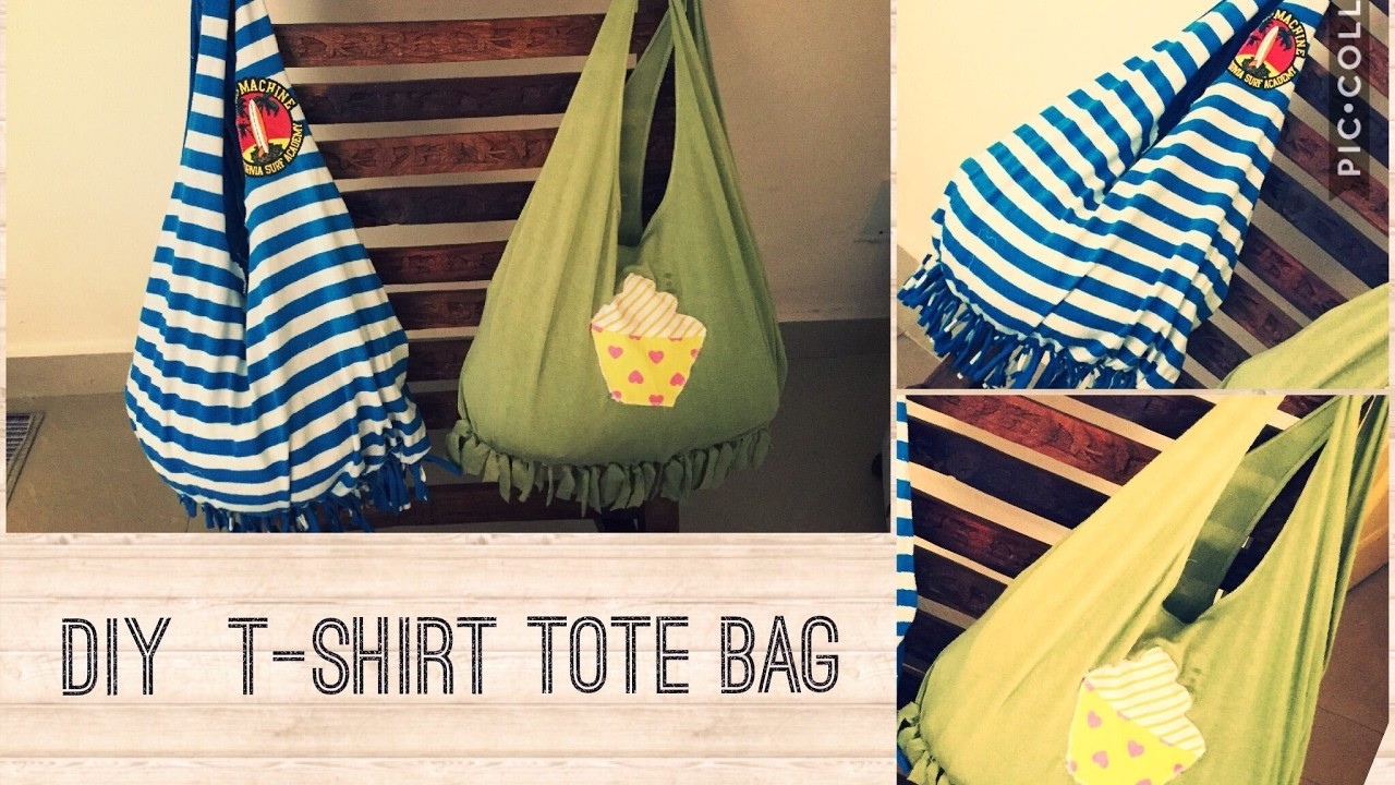 Diy t shirt tote bag my crafts and diy projects for T shirt tote bag
