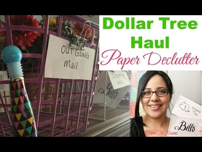DOLLAR TREE HAUL ???? Paper Mail Organization