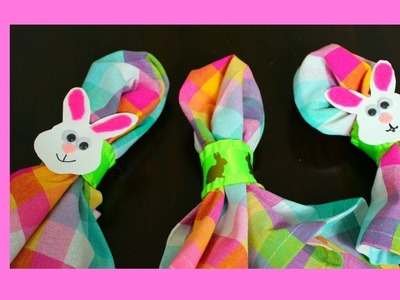 Easy Easter Napkin Rings Craft (MADE FROM PAPER TOWEL ROLLS!)