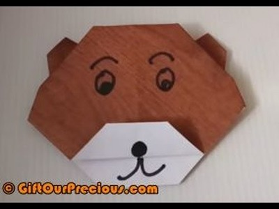 Easy to Make Origami Bear - Simple and Easy Paper Folding for Kids