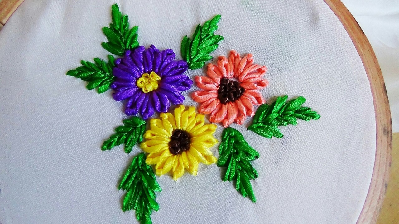 Hand Embroidery Ribbon Work My Crafts And DIY Projects