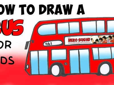 How to Draw a Bus for kids Step by Step
